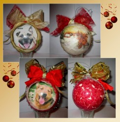 Le palline di Natale personalizzate del Cascinotto!