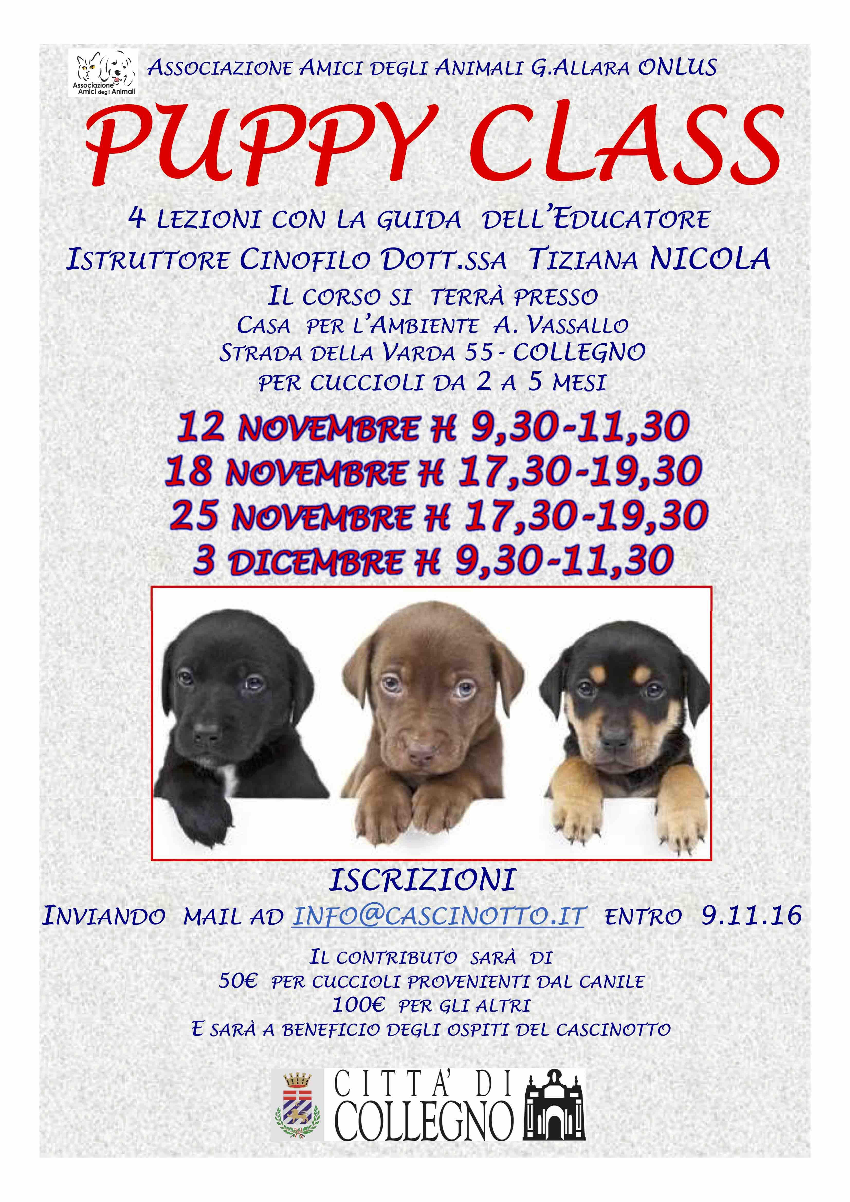 LOCANDINA PUPPY A4 EDIZIONE NOVEMBRE 2016rev1