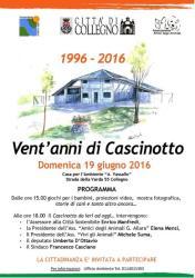 Grande Festa per i 20 anni del Cascinotto: 1996 - 2016