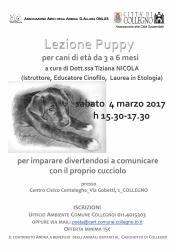 Lezione Puppy! sabato 4 marzo 2017