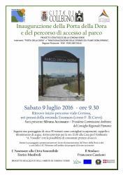 Inaugurazione Porta della Dora e accesso al parco - Collegno