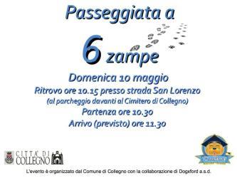Prossimi eventi a Collegno. Partecipate numerosi!