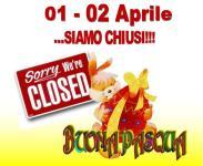 Il Cascinotto chiude al pubblico per Pasqua e Pasquetta 2018!