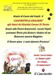 Grazie agli amici dei giardini Cavour di Torino!